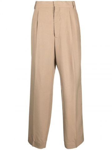Beige straight pants