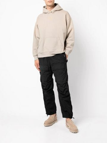 Black straight cargo pants