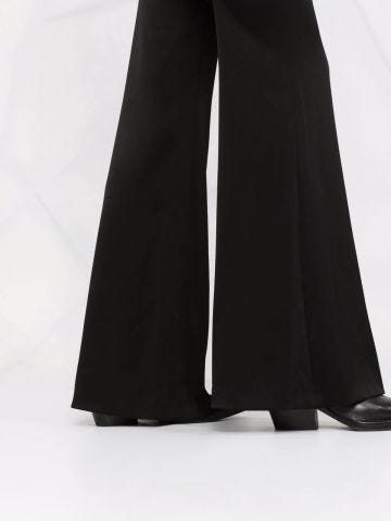 flared-leg trousers