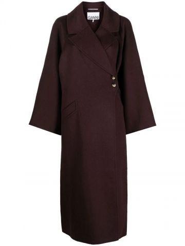 Midi coat with brown