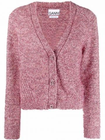 Pink lurex cardigan