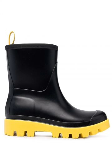 Gia black flat Giove Wellington ankle boots