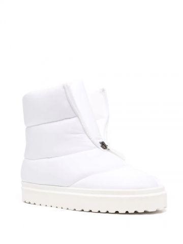 Luna puffy boot in white technical fabric