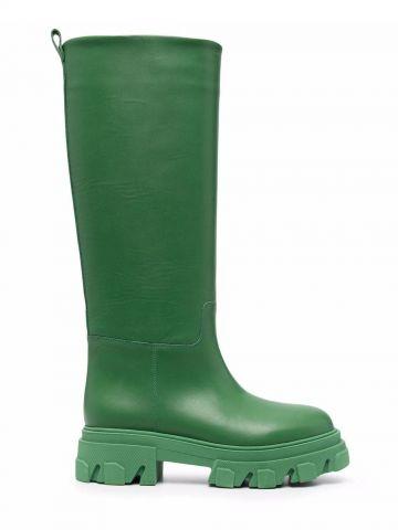 Green Perni 07 tubular combat boots