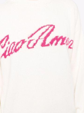 White crew-neck jumper Ciao Amore