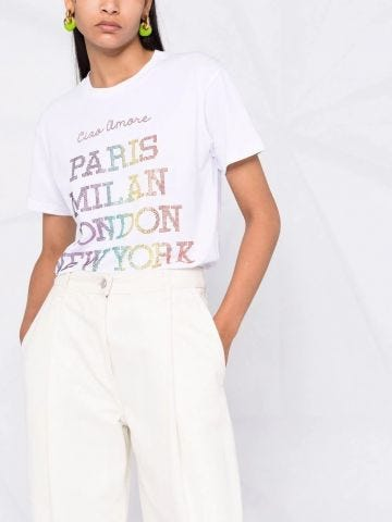 White T-shirt with printing