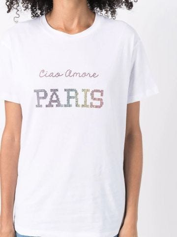 White Ciao Amore Paris T-shirt
