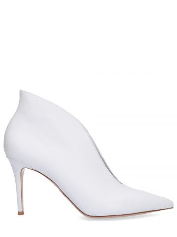 White Vania ankle boots