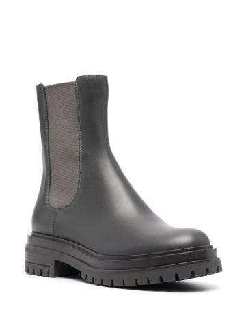 Grey Chester boots