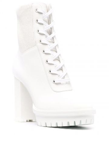 White Martis ankle boots