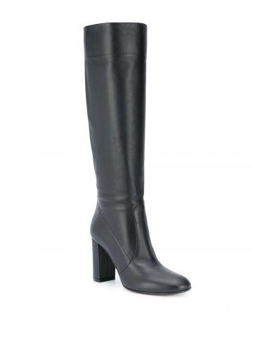 Black Glen knee-length boots