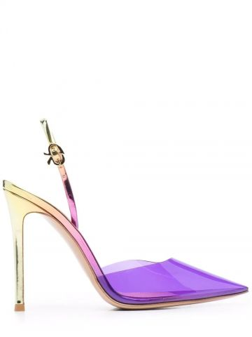 Purple D-Orsay pointy pump