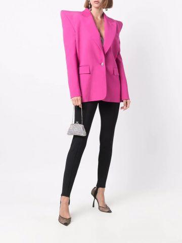 Pink shoulder-pads oversized blazer