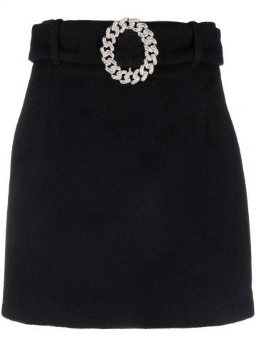 Black skirt with buckle