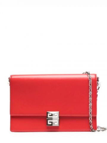 Medium 4G bag in red box leather with chain