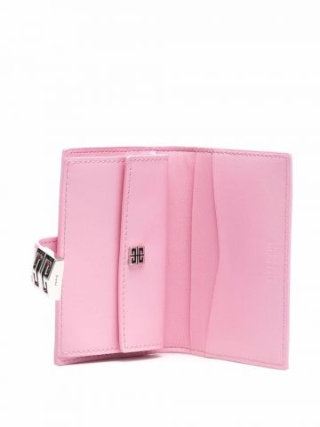 4G cardholder in pink box leather