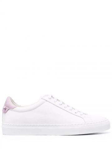 Sneakers di pelle opaca bicolore