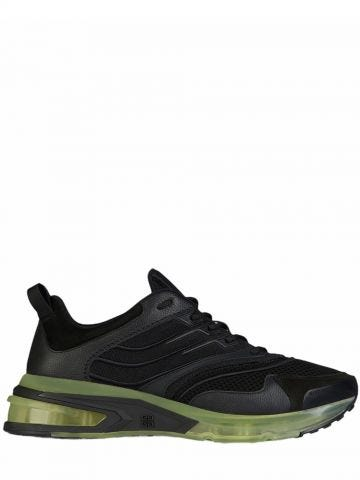 GIV 1 sneakers in black leather and mesh