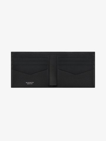 Black wallet in grain leather