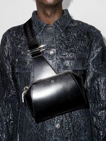 Small Antigona crossbody bag in black box leather
