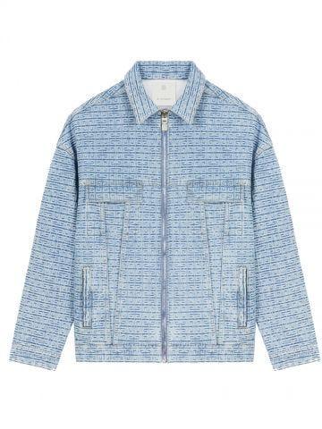 Blue oversized jacket in 4G denim