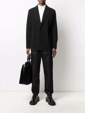 Black jogger pants in 4G jacquard