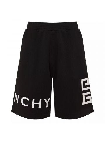 4G logo embroidered track shorts