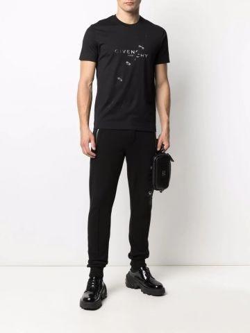 Black Trompe L'Oeil print T-shirt