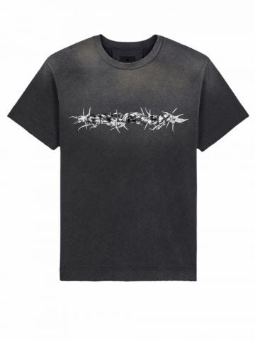 Black Givenchy Babed Wire vintage oversized T-shirt