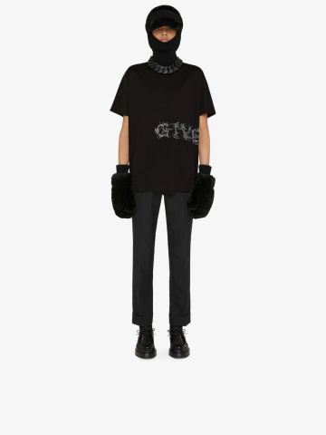 Black Givenchy Barbed Wire vintage oversized T-shirt