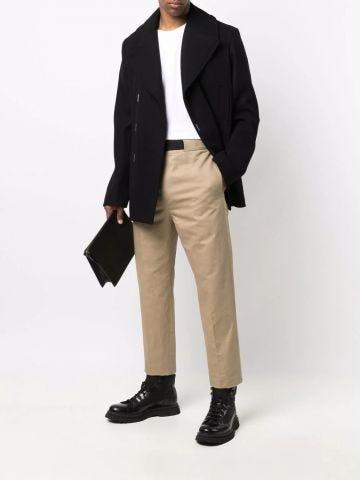 Black asymmetrical coat