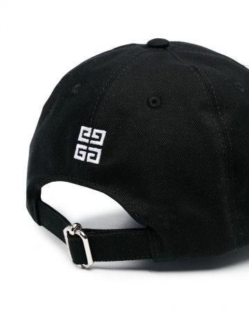 Black engraved logo hat
