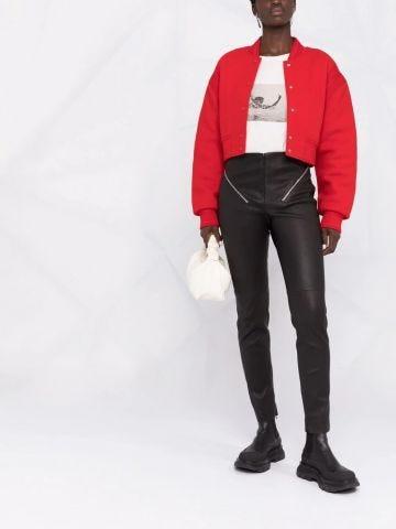 Leggings con zip neri