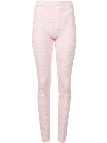 Leggings con jacquard 4G rosa