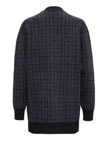 Cardigan di cashmere in maglia 4G grigio
