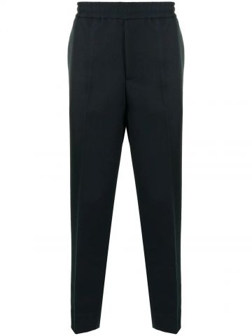 Dark blue Star stud pull-on trousers