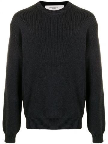 Grey Davis lettering logo sweater