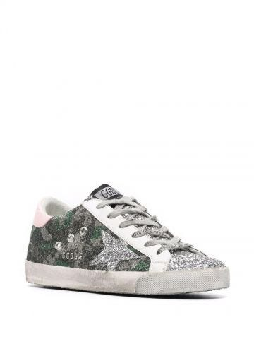 Green Super-Star sneakers with camouflage print