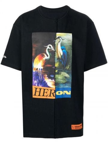 Black oversized T-shirt with print
