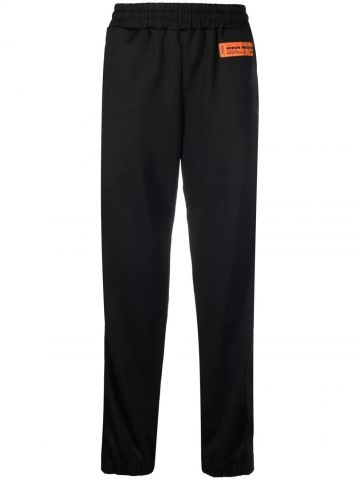Black sports trousers with logo