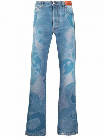 Slim jeans with print