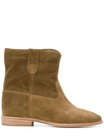 Brown suede Crisi boots