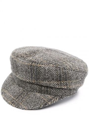 Black and beige Evie hat