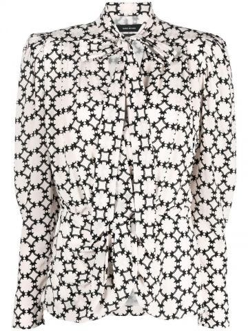Print blouse with all-over graphic print