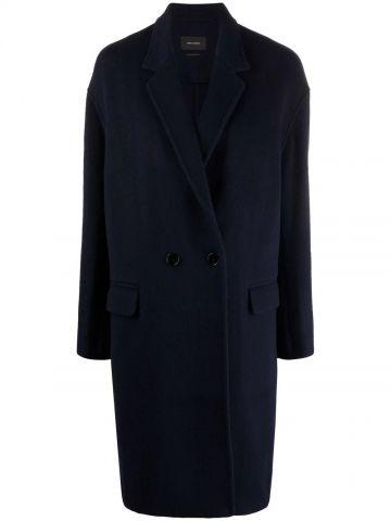 Blue single-breasted coat