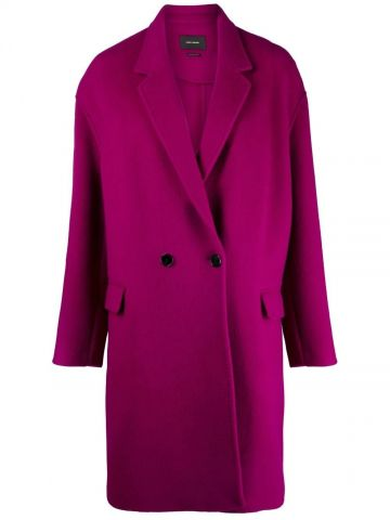 Pink single-breasted coat
