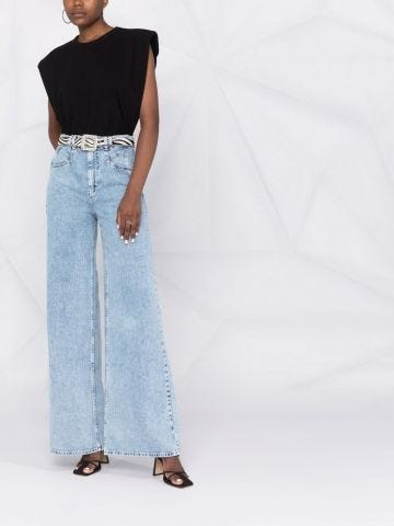 Blue Lemony high-rise flared jeans