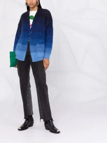 Blue oversized cardigan