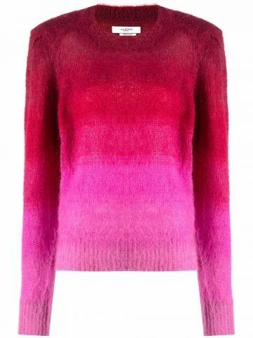 Pink gradient effect sweater