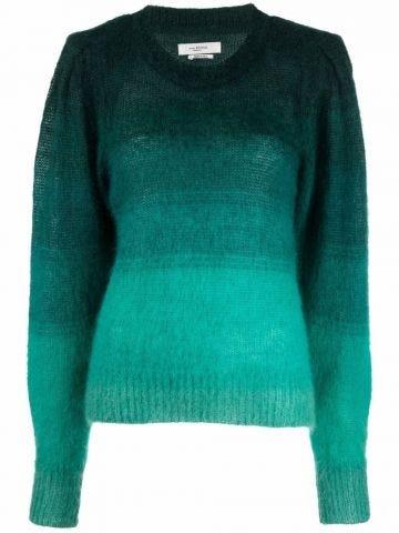 Green gradient effect sweater